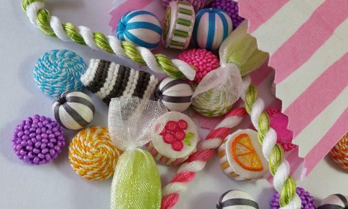 Stumpwork sweets. Kate Barlow